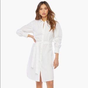 JustFab White Button Down Shirt Dress